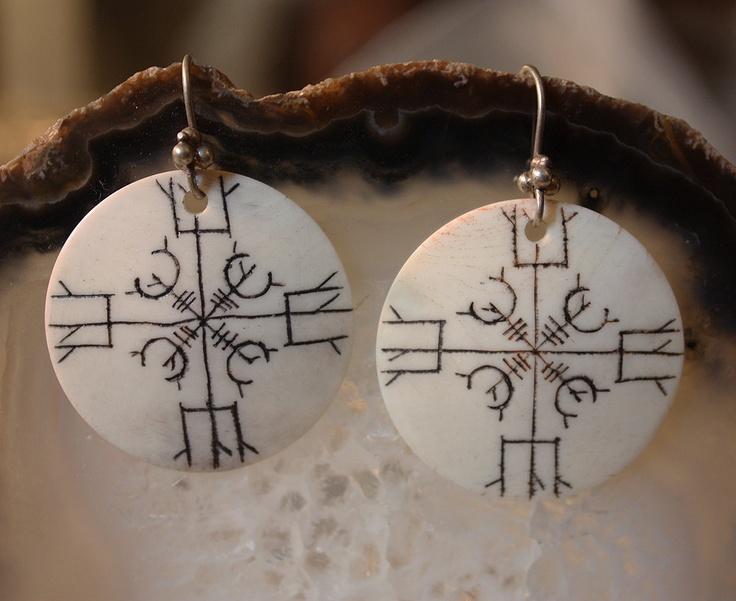 Rune Symbol Goddess Talisman Earrings
