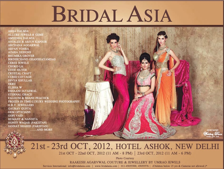 """Advertisement in HT City 10.10.2012    Looking forward to see you all at our booth """"Frozen In Time- Luxury Wedding Photography"""" in Bridal Asia, Hall B, 21-22-23 Oct, 2012, Hotel Ashok, New Delhi    E: contactfrozenintime@gmail.com"""
