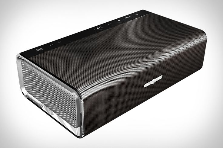 Creative Sound Blaster Roar Speaker - This compact portable system boasts two 1.5-inch high-frequency drivers, a dedicated 2.5-inch subwoofer, and a pair of side-firing passive radiators for good measure. All those drivers will only sound as good as the music you play through them, so it supports aptX and AAC over Bluetooth for high-quality audio, while adding features like NFC support, a USB port for charging while you play and an integrated MP3 player. | uncrate.com