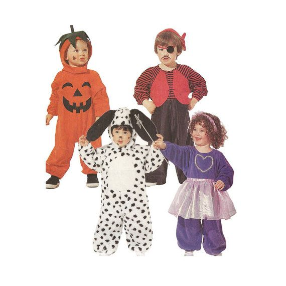 1990s Toddler Costume Pattern McCalls 396 by RedcurlzsPatterns