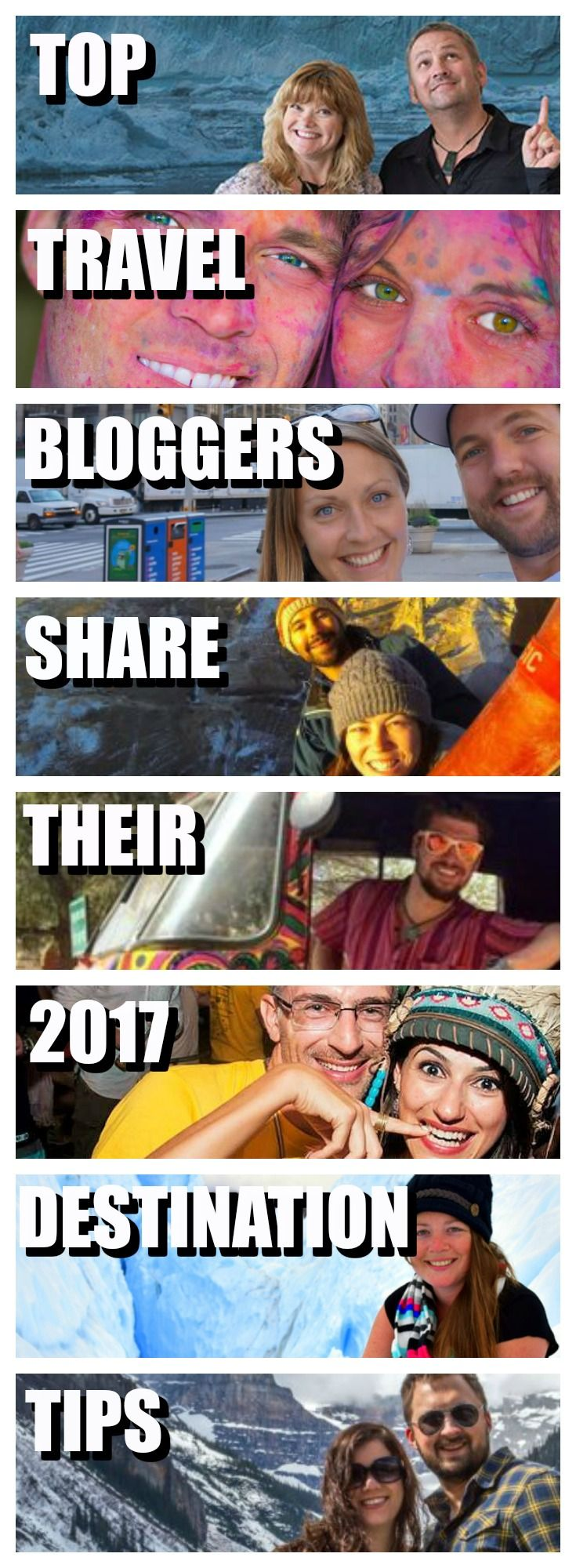 Fuel your 2017 wanderlust by destination tips from the world's top travel bloggers including The Planet D, Goats on the Road, Getting Stamped & Nomadasaurus | Top Travel Bloggers | Where to travel to next | Wanderlust | Best Places to visit | Top destinations | Best Countries to visit | Travel destinations