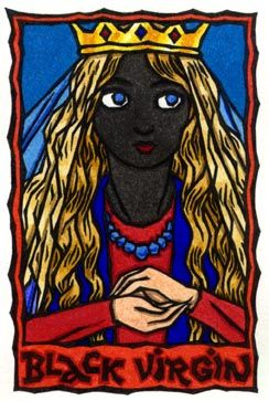 Amused Grace: Goddess Oracle Deck - Black Madonnas are a mostly medieval European phenomenon, with between 450-500 of them in existence,... This card represents ancient secrets in plain sight, then, or the layers of the past showing through in the present; and despite the rewritten history the origins of things are easily discerned. -Thalia Took