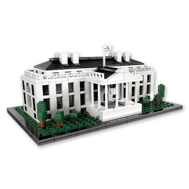 """This LEGO® White House kit allows the budding architect to construct a 3-dimensional model of the White House. The finished model stands approximately 4"""" tall and 9"""" wide on a base. Instructions and a booklet with facts about the building and its history are included. (WARNING: Small parts, not for children under 3yrs.)  $50.00  White House Historical Assoc."""