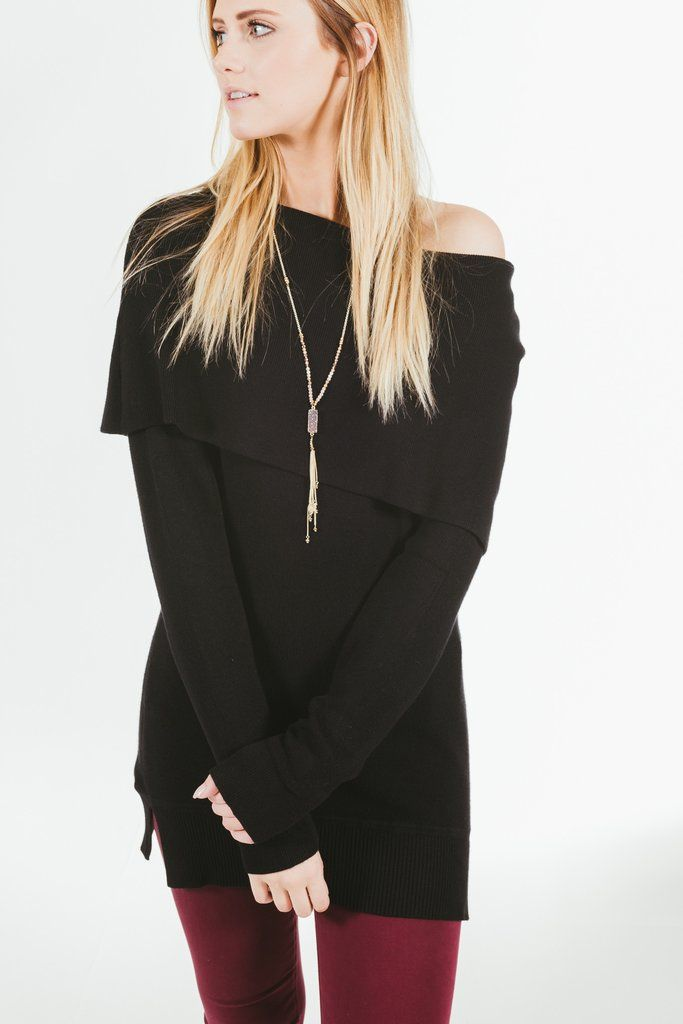 Central Park West.Leena Sweater.Black