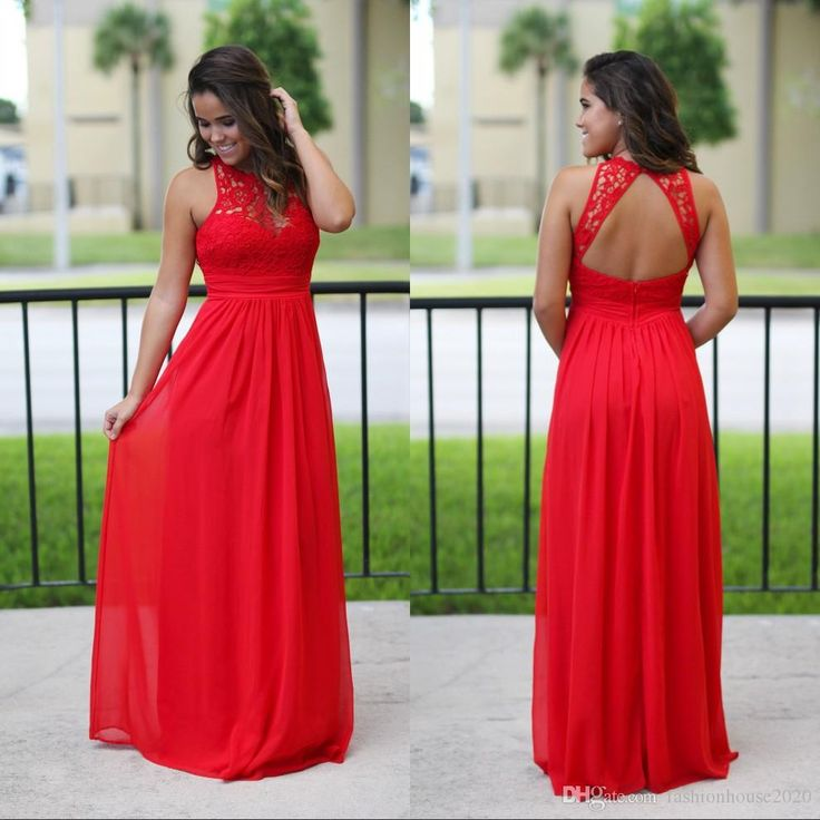 Sexy Long Chiffon Country Bridesmaid Dresses Red Lace Bridesmaids Dress Cheap Beach Sexy Backless Maxi Dress Prom Gowns Bridesmaid Dresses Bridesmaids Dresses Beach Bridesmaid Dresses Online with $89.15/Piece on Fashionhouse2020's Store | DHgate.com