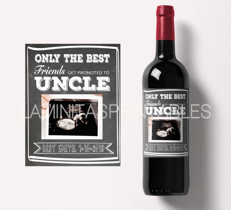 etiqueta botella vino tio, wine bottle label, revelacion embarazo, pregnancy announcement, chalkboard, promoted to uncle bottle label by LaminitasPrintables on Etsy