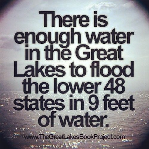 Or just Lake Superior (actually an inland sea) can cover both continents of north and south america in one foot of water.