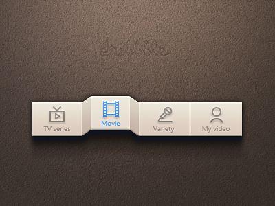#ui not-so-subtle 3D effect for a menu