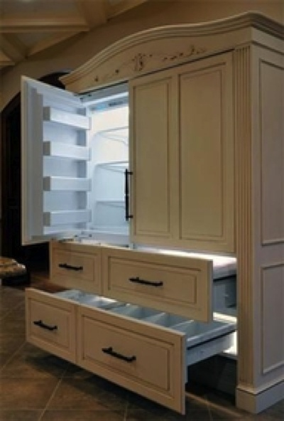 fridge that looks like cabinets  Kitchen remodel  Home