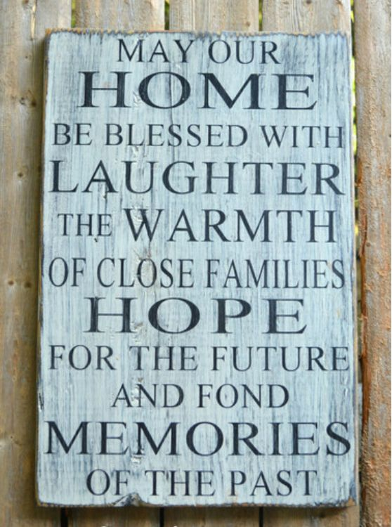 Rustic wood sign blessings wooden quotes distressed for Home decor quotes signs