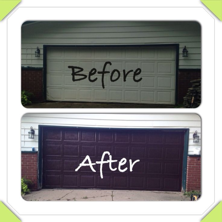 Garage Door Makeover Minwax Gel Stain Works Amazing My