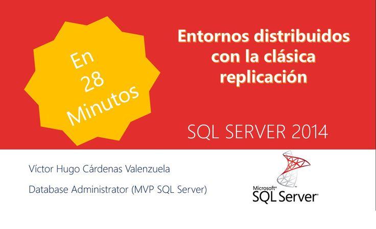 Conferencia sobre entornos distribuidos usando la clásica replicación, explicando los elementos que conforman la estructura de la replicación y los tipos de replicación - SQL Server -