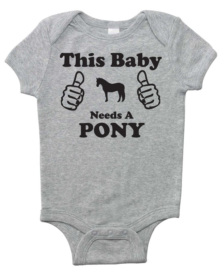 Best 25 horse clothing ideas on pinterest horse stuff horse this baby needs a pony baby horse onesie baby shower gift for infant boys negle Images
