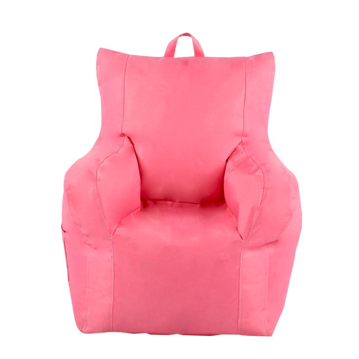 Pink Toddler Armchair Bean BagA snug chair to call their own!Our Pink Arm Chair is a brilliant buy for your little one. Designed with an extra pocket on the side, this is perfect for keeping their favourite toy safe. The handle on the top makes it convenient for carrying around so they will never be