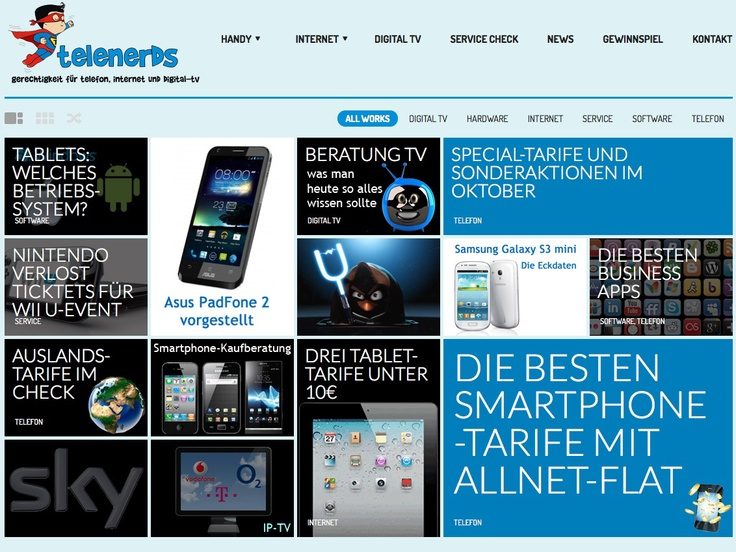 Telenerds in neuem Gewand. Hier bieten wir IT-News, Beratung, Tarif-Vergleiche für Smartphones, Tablets, DSL, IP-TV und mobiles Internet uvm. http://www.telenerds.de