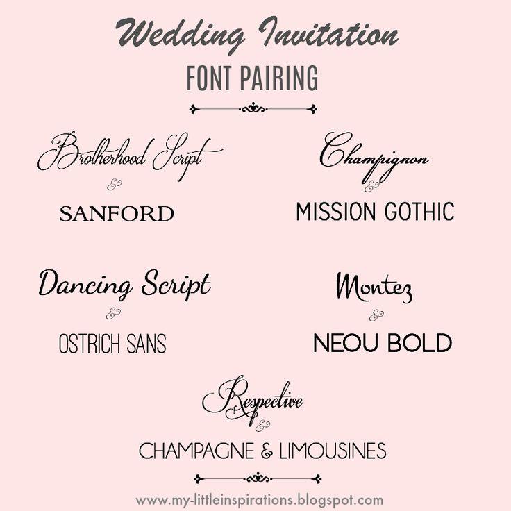 Wedding fonts: i migliori per partecipazioni di Matrimonio, biglietti d'auguri e molte altre occasioni - The best font pairings for wedding invitations and many other occasions - My Little Inspirations