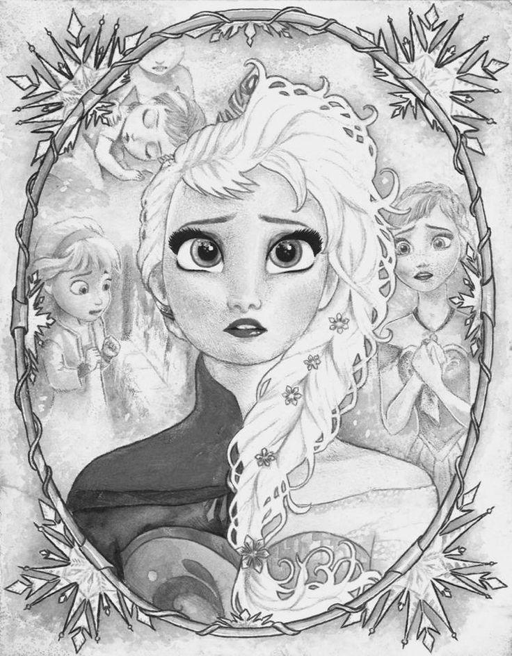 Frozen Coloring Pages Elsa Coronation : Best images about kleurplaten quot frozen on pinterest
