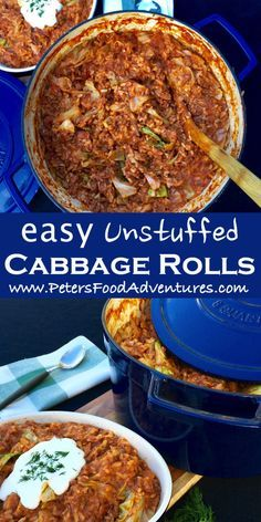 Quick & Easy One Pot Wonder with Ground Beef, Rice and Cabbage, almost a Casserole! Perfect When You Are in a Hurry! - Classic Lazy Unstuffed Cabbage Rolls (Ленивые Голубцы)