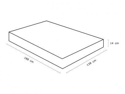 Colchão Casal Celuplás Espuma D-33 - 14cm de Altura Quality com as melhores condições você encontra no Magazine Jdamasio. Confira!