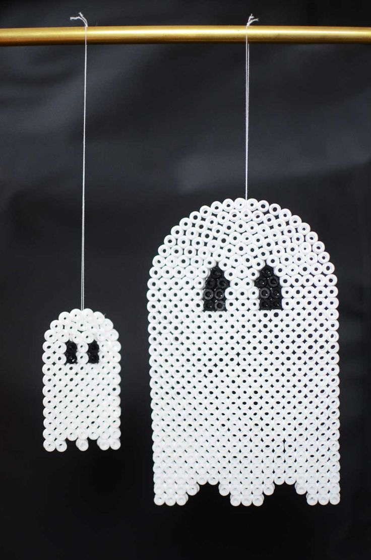 Ghosts - Halloween ornaments hama beads by sköna hem