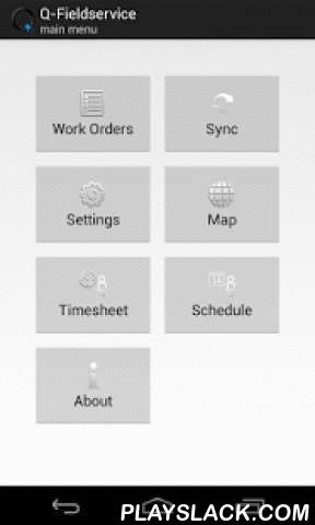 Q-Fieldservice Tablet & Phone  Android App - playslack.com ,  Please note that you can only use this application if you have an account on our field service solution.This version is optimized for tablets and Android 4.x devices.Q-Fieldservice by Quality IT is a complete planning and work order processing solution for field staff. A central planner application integrates with a mobile application running on smartphones. Q-Fieldservice Mobile is now available on Android. Please contact Quality…