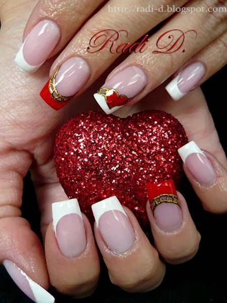 510 best nail art valentines images on pinterest nail arts its all about nails sparkling heart prinsesfo Gallery