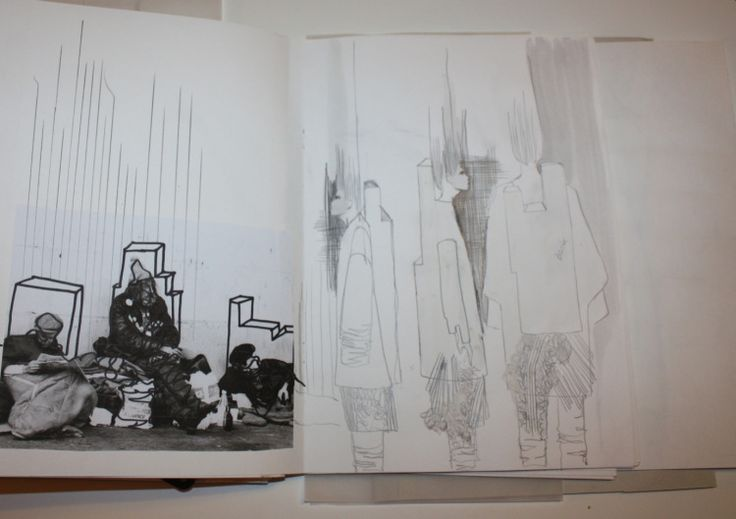 Fashion Sketchbook - fashion sketches & architecture research; fashion design portfolio // Ernesto Naranjo