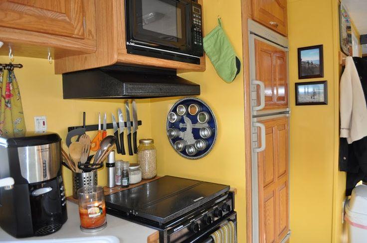 Kitchen organization in your rv kitchen organization for Camp trailer kitchen designs