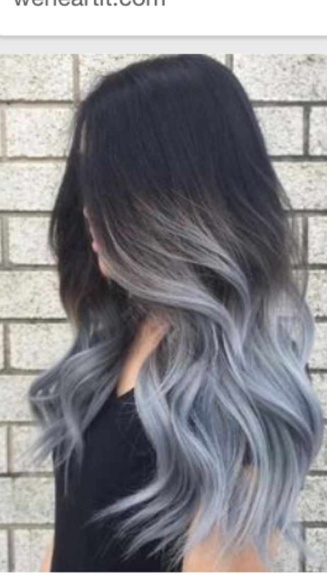 The 25 best blue hair highlights ideas on pinterest - Como hacer color gris ...