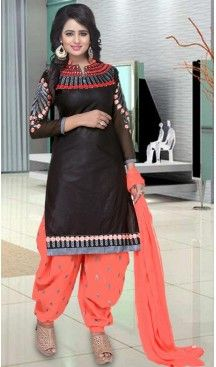 Straight Cut Style Patiyala Cotton Salwar kameez in Black Color | FH519478911 #punjabi , #patiyala, #shindhi, #suits, #narrow, #dresses, #salwar, #kameez, #straight, #long, #heenastyle, #indian, #online, #shopping, #clothing, #womens, #girls, #style, #mode, #henna, #hina, #mehendi, #dupatta, #chudidar, @heenastyle , #pakistani, #readymade