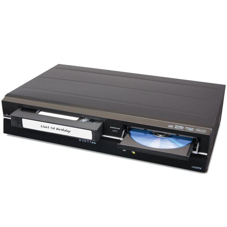 The VHS To DVD ConverterGadgets, Gift Ideas, Old Home, Dvd Convertible, Hammacher Schlemmer, Disney Cartoons, Vhs, Products, Disney Movie