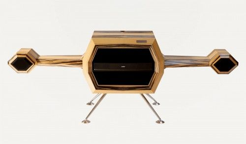 The Sattelite By Hervet Manufacturier With Bose Sound system. products Made in France. Available on Ambassade-Excellence e-shop : Free delivery worldwide. Everything French & Excellent. #MadeInFrance