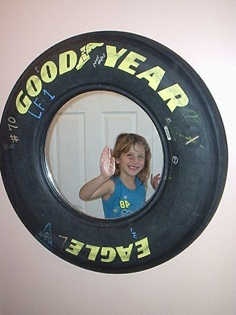 really cool goodyear tire wall mirror