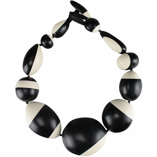 Monies Black and White Necklace ($548) found on Polyvore