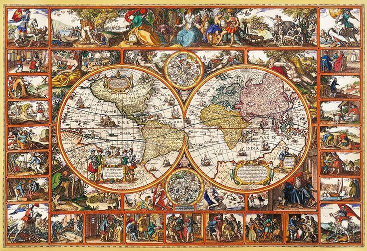 Clementoni Puzzle 2000 Teile Vischerius: Magna Carta Mundi (32551) Weltkarte in Spielzeug, Puzzles & Geduldspiele, Puzzles | eBay