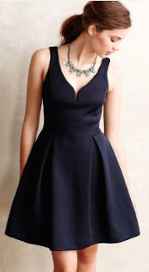 stunning navy flared dress on sale! http://rstyle.me/n/sp7kvr9te