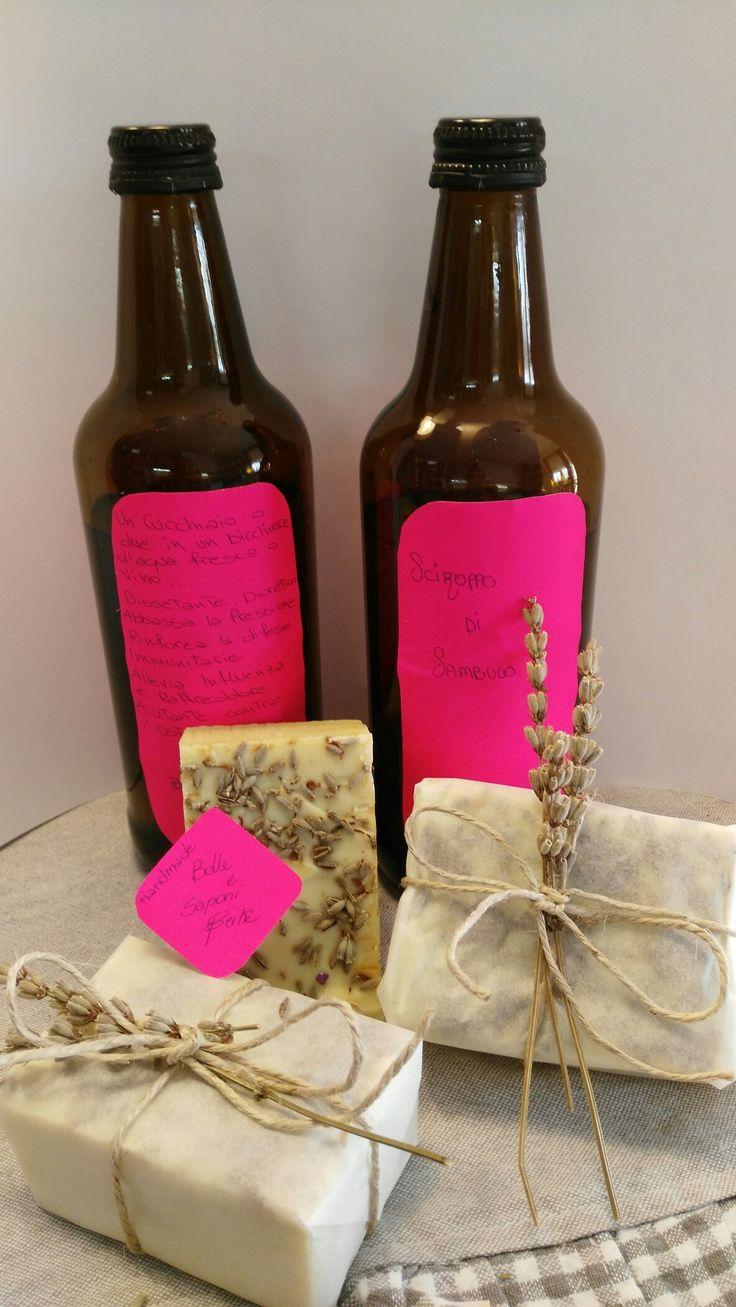 Sciroppo di sambuco sapone all olio d oliva    handmade  Bolle e saponi