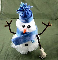 This adorable Poufy Snowman is an easy project for beginners to make! He's super soft, so kids will love him also.