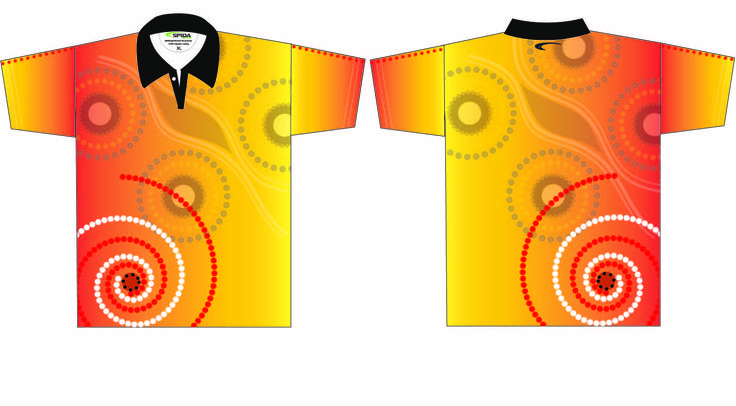 Love these Dreamtime Aboriginal Shirts - Customise these with your logo and colours. http://promocorner.com.au/aboriginal-clothing/sublimated-aboriginal-shirts/