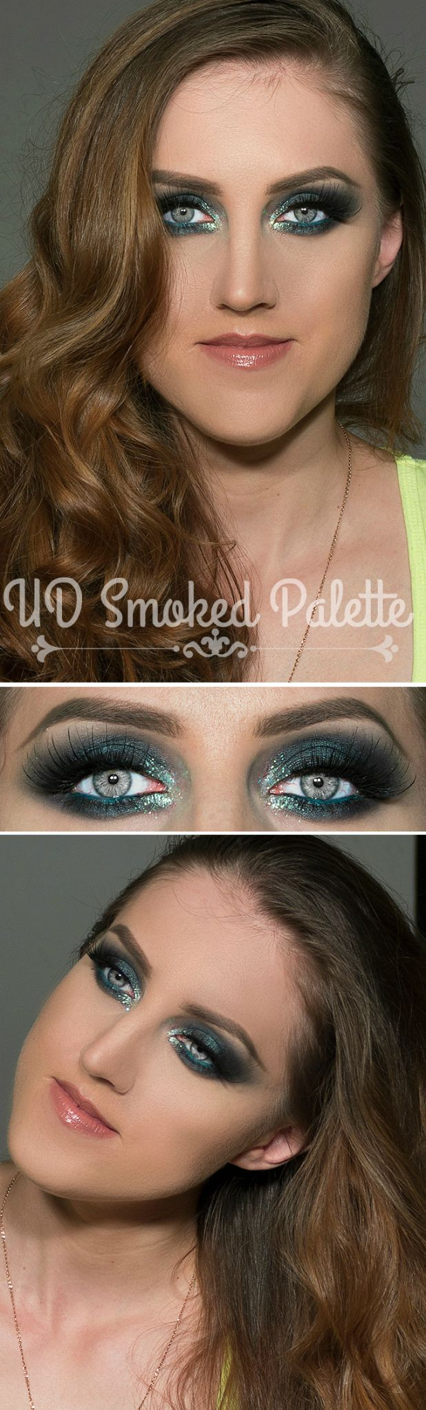 Green smokey eye with Urban Decay Smoked Palette