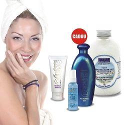 Cosmetica terapeutica de infrumusetare 1 x EMULSIE HIDRATANTA CU ALOE VERA 1 x APA DE LA MAREA MOARTA 1 x SARE BAIE ANTISTRES CU MAGNEZIU 1 x ULEI DE BAIE REVITALIZANT