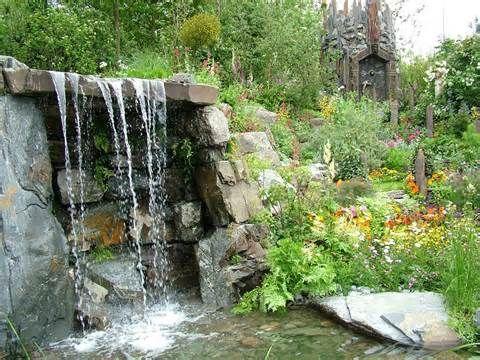 58 besten Traumhaus Garten Bilder auf Pinterest Wasserspiele - wasserfall garten wand