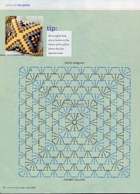 Crochet Granny Pillow - Chart