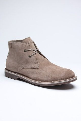 Men's Leather Desert Boots.