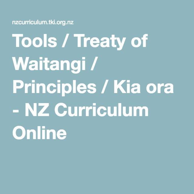 Tools / Treaty of Waitangi / Principles / Kia ora - NZ Curriculum Online