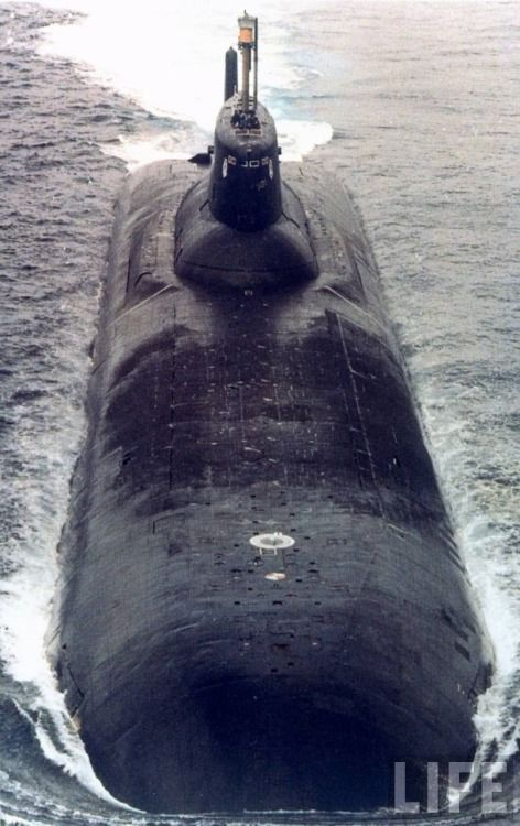 """Typhoon-class Russian nuclear submarine ~ I tracked many of these in my USN days during the """"COLD WAR""""."""