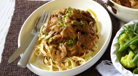 A winter favourite, this no-fuss beef stroganoff will have the family queuing up for seconds!