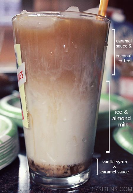 Caramel Coconut Iced Coffee Recipe. Perfect way to start the day!