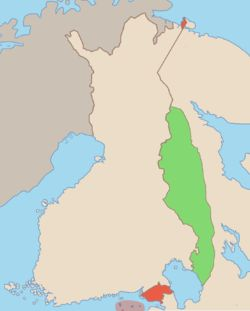 The Finnish Democratic Republic (Suomen kansanvaltainen tasavalta, also: Suomen kansantasavalta) was a short-lived puppet government created and recognised only by the Soviet Union. Headed by Finnish politician Otto Ville Kuusinen, the Finnish Democratic Republic was Joseph Stalin's planned means to rule Finland. It nominally operated in the parts of Finnish Karelia that were occupied by the Soviet Union during the Winter War.   Established: 1 December 1939 • Disestablished: 12 March 1940.