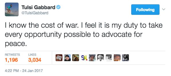 The press should be grateful to Gabbard for doing their job in Syria when they were too cowardly and corrupt to go themselves.